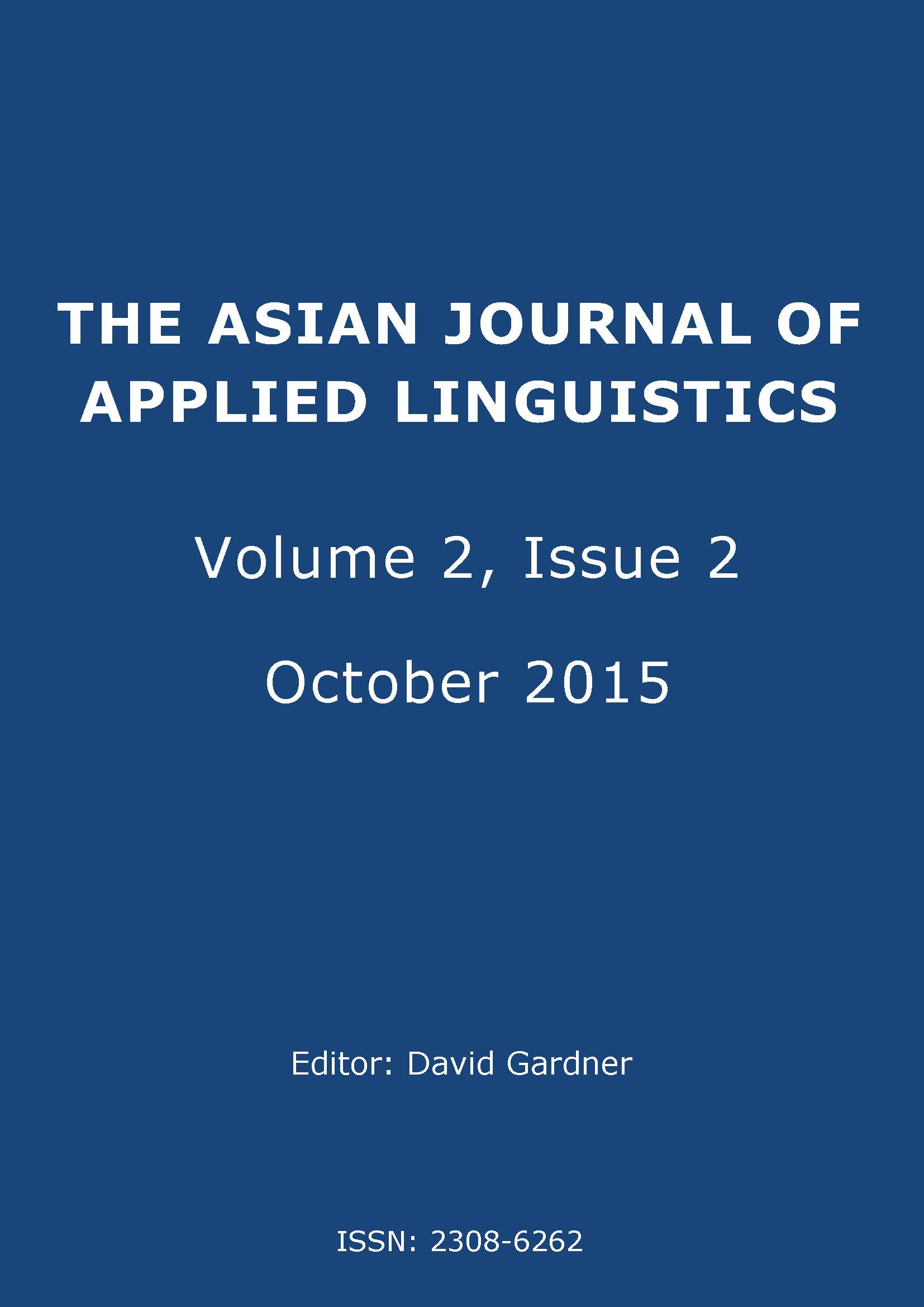 The Asian Journal of Applied Linguistics. Volume 2. Issue 2. October 2015