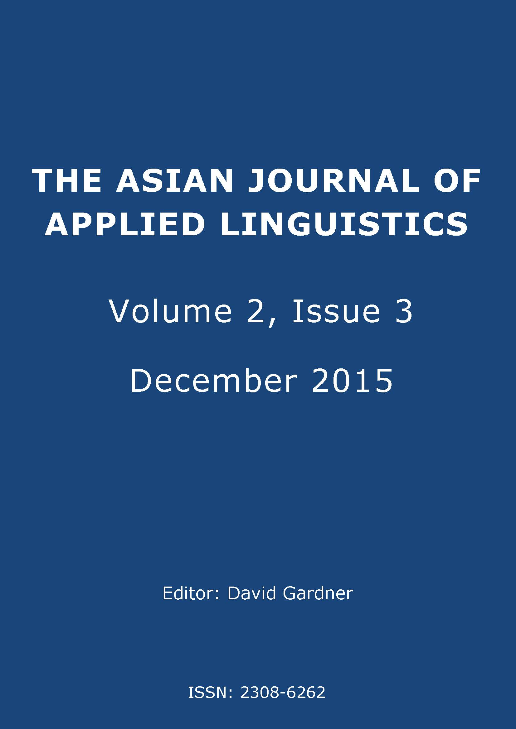 The Asian Journal of Applied Linguistics. Volume 2. Issue 3. December 2015