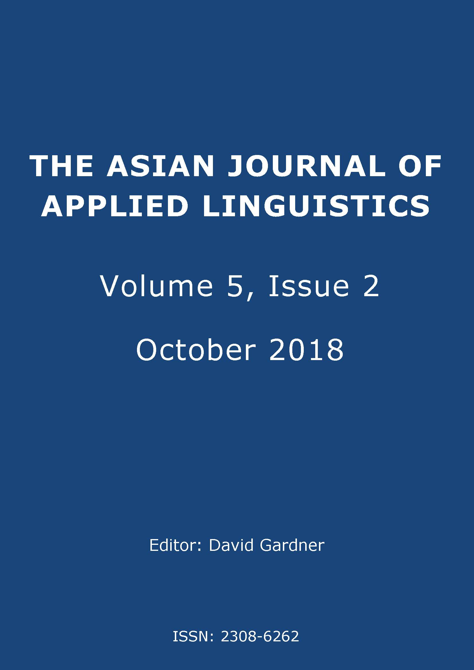 The Asian Journal of Applied Linguistics. Volume 5, Issue 2.