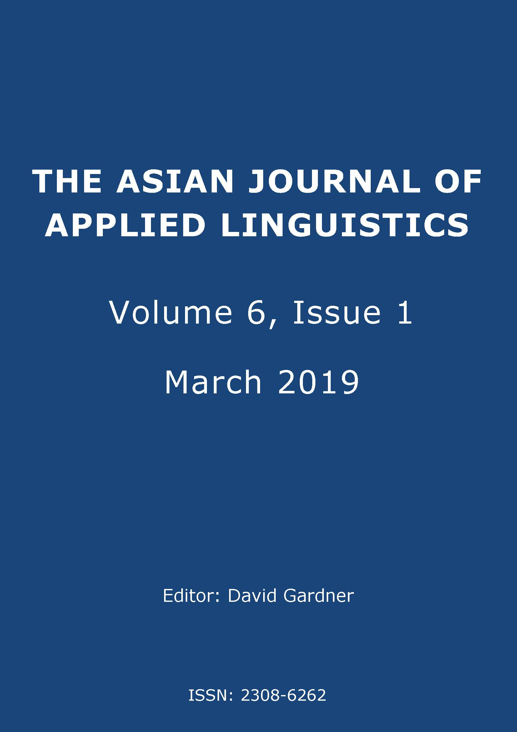 The Asian Journal of Applied Linguistics, Volume 6, Number 1