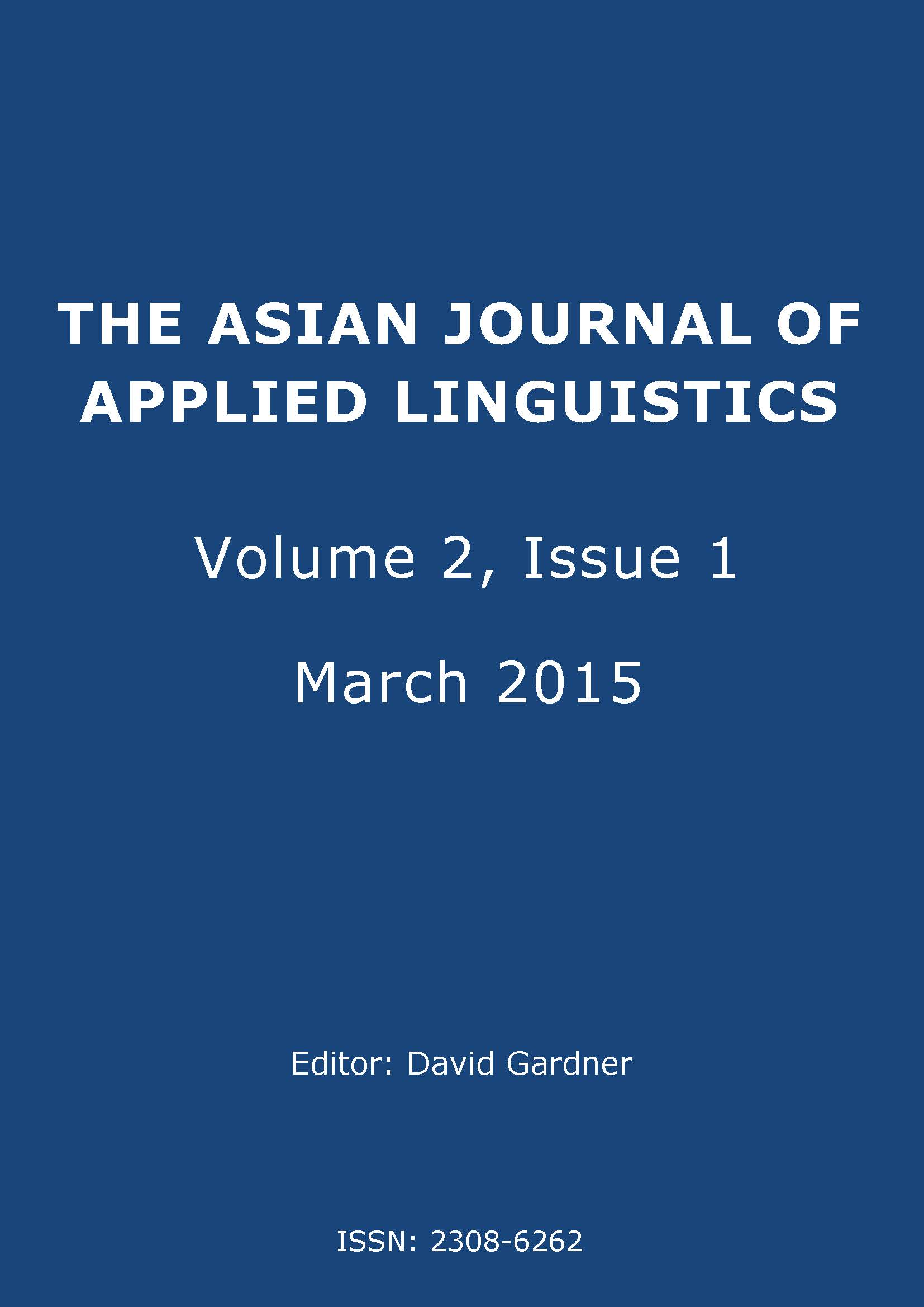 The Asian Journal of Applied Linguistics. Volume 2. Issue 1. March 2015